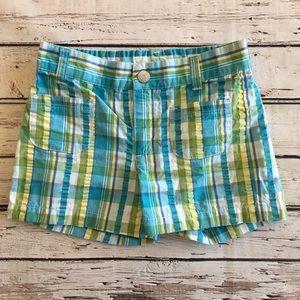 Gymboree Blue Plaid Shorts